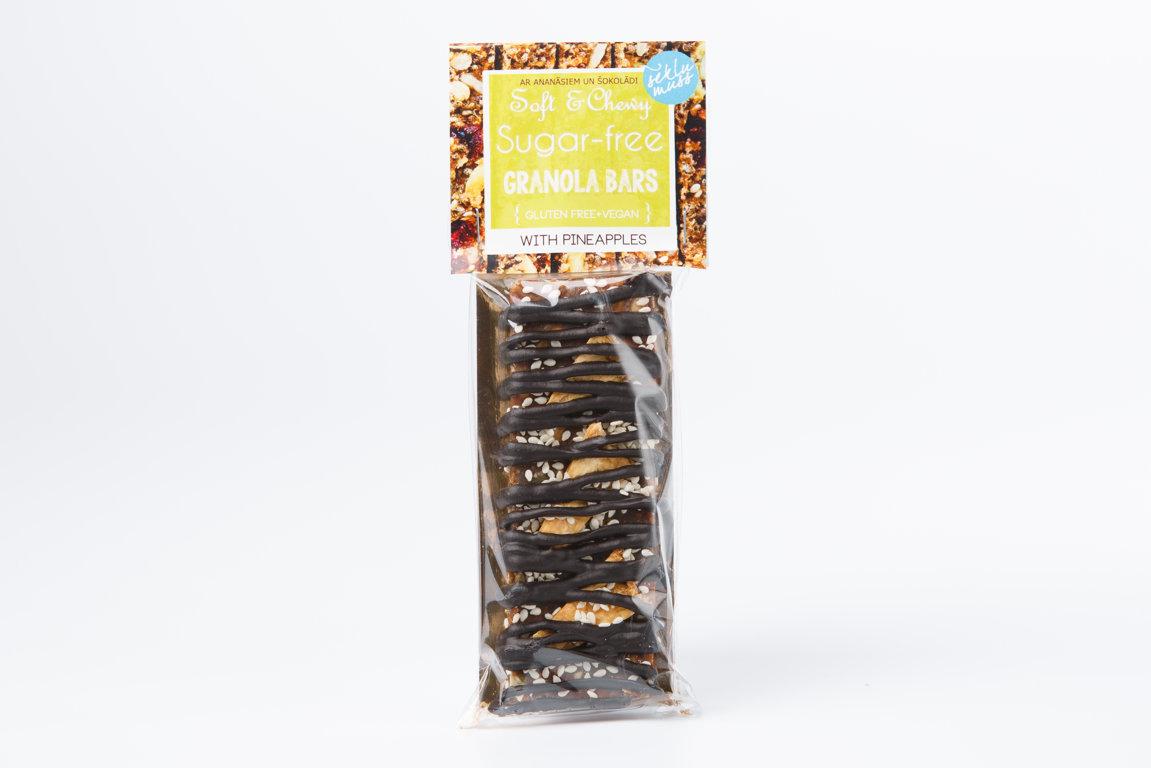 batoniņš ar ananāsiem un BIO šokolādi