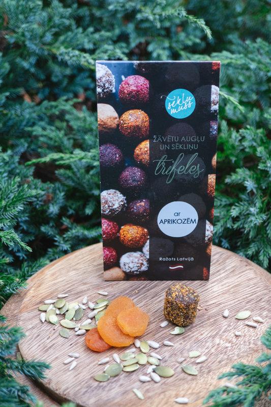 Sēkliņu trifeles ar aprikozēm, truffles with apricots