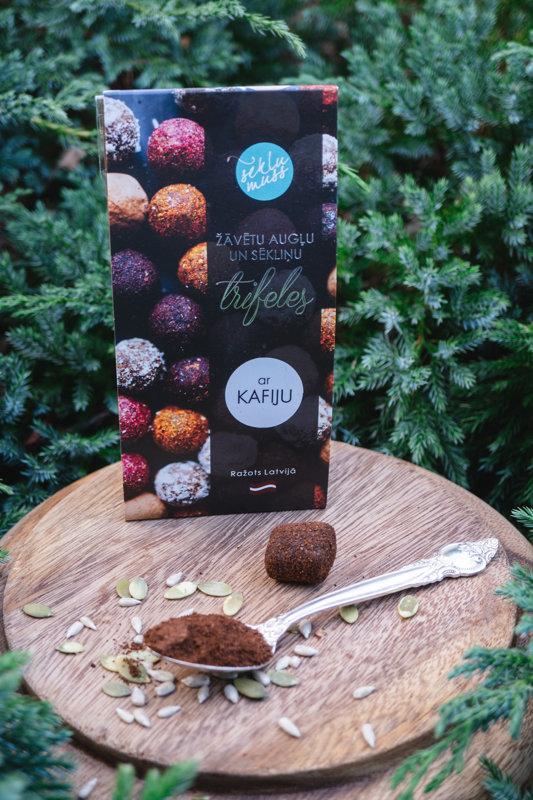 Sēkliņu trifeles ar kafiju, truffles with coffe